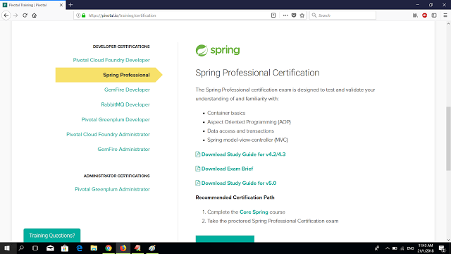 How to schedule exam for Core Spring Certification | java ...