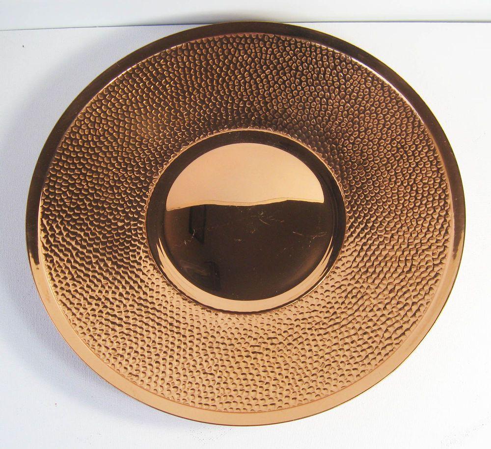 Large Decorative Serving Trays Interesting Vintage Rodd Copper Rippled Large Decorative Serving Trayplate Decorating Inspiration