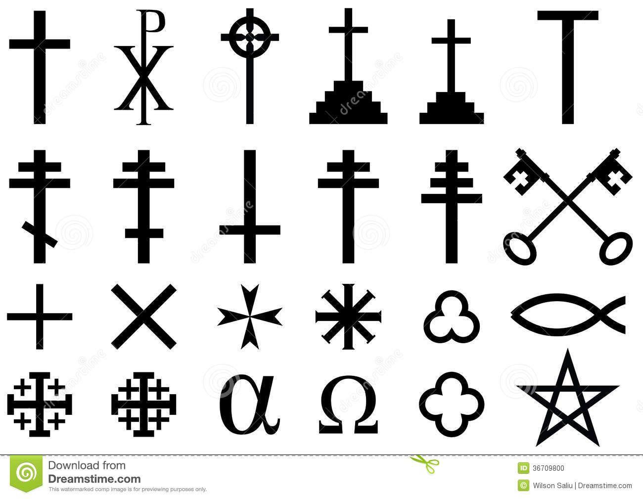 christian religious symbols christian faith symbol