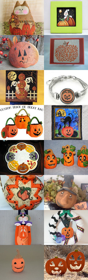 Pumpkins Galore at Holiday Decor and More! by Marsha on Etsy--Pinned with TreasuryPin.com