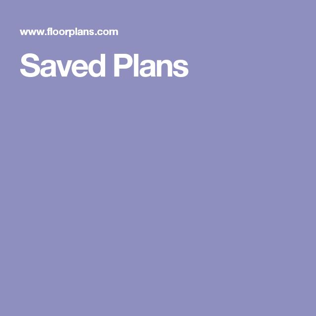Saved Plans