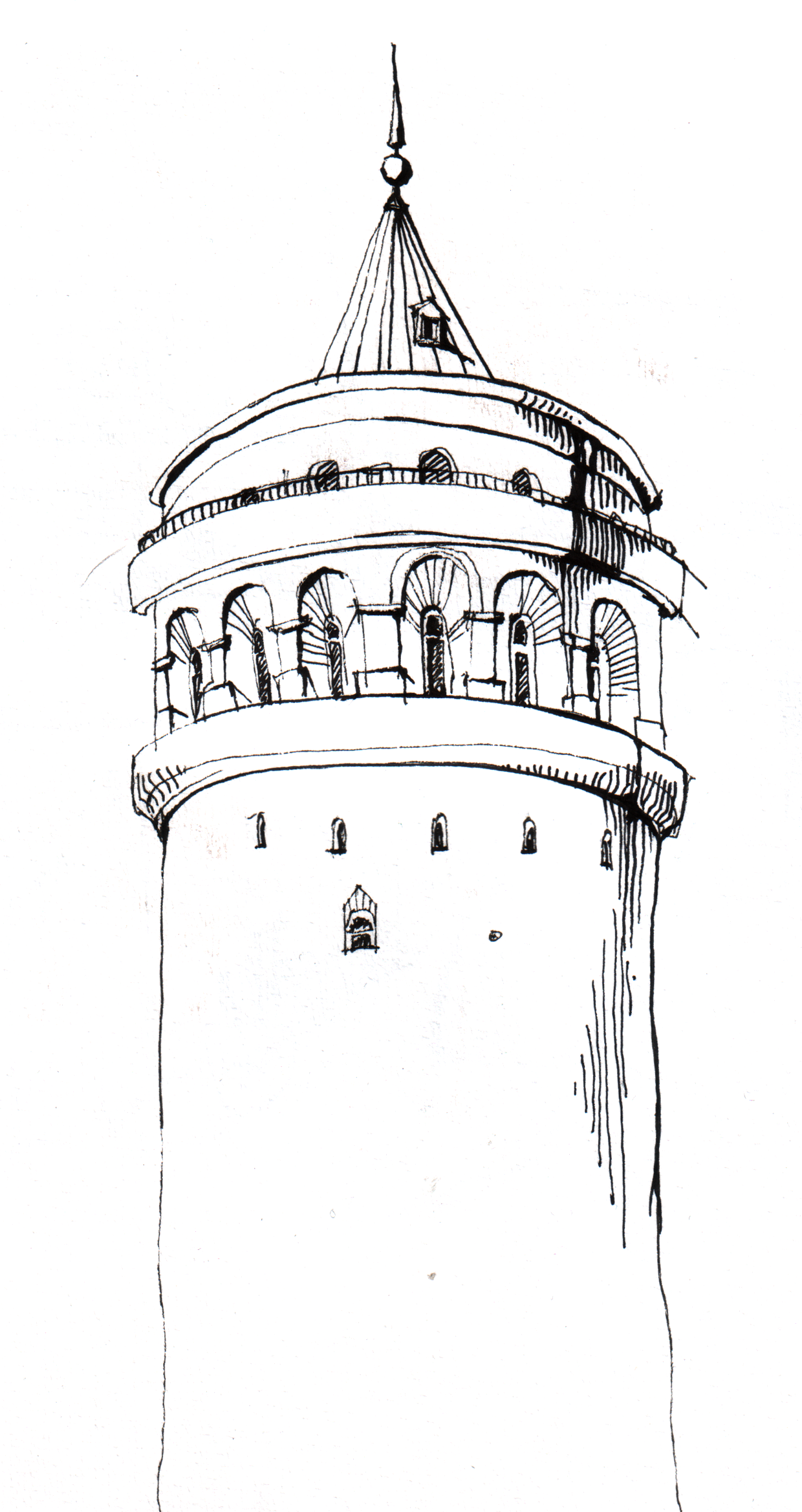 Tablolar galata kulesi duvar posteri pictures to pin on pinterest - Architecture Sketches Tower Istanbul Travel Brochure Calligraphy Sketch Drawing Ideas Pens