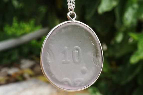 """Photo of Baby """"You are a Ten"""" glass jewelry, beach glass jewelry, real sea glass, silver …"""