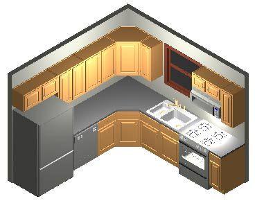 10x10 Kitchen Cabinet Layout Small Layouts