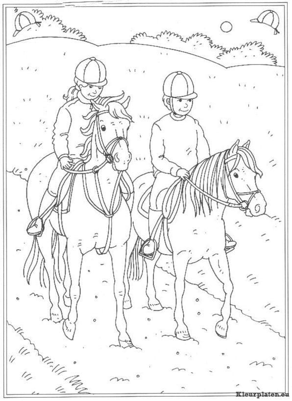 Kleurplaten Paarden In De Stal.Op De Manege Kleurplaten Leren Tekenen Hastar Pyssel En Mala