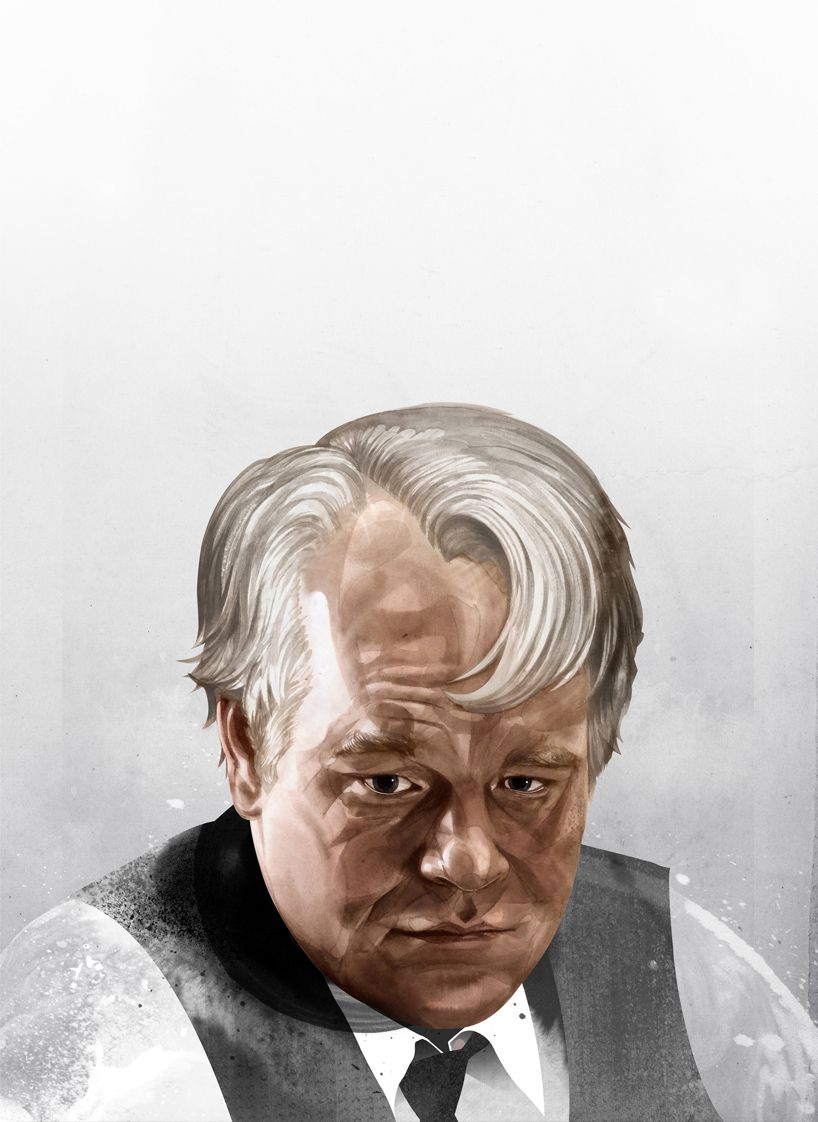 #caricature: Phillip Seymour Hoffman portrait by hellovon - http://dunway.com