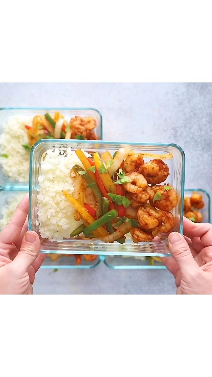 Low-carb Shrimp Fajita Meal-Prep Bowls – 2019 - Lu