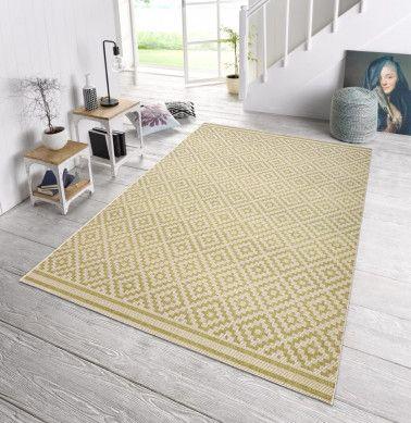 In- und Outdoor Teppich Bougari Raute Grün Creme 102465 Pinterest