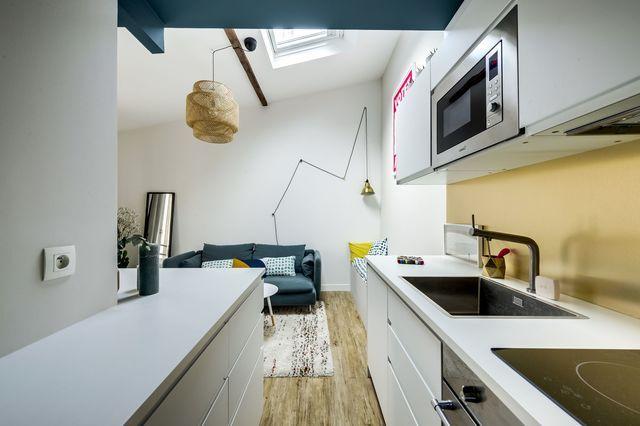 Canon ce 27 m2 optimis aux batignolles cuisine - Architecte interieur paris petite surface ...
