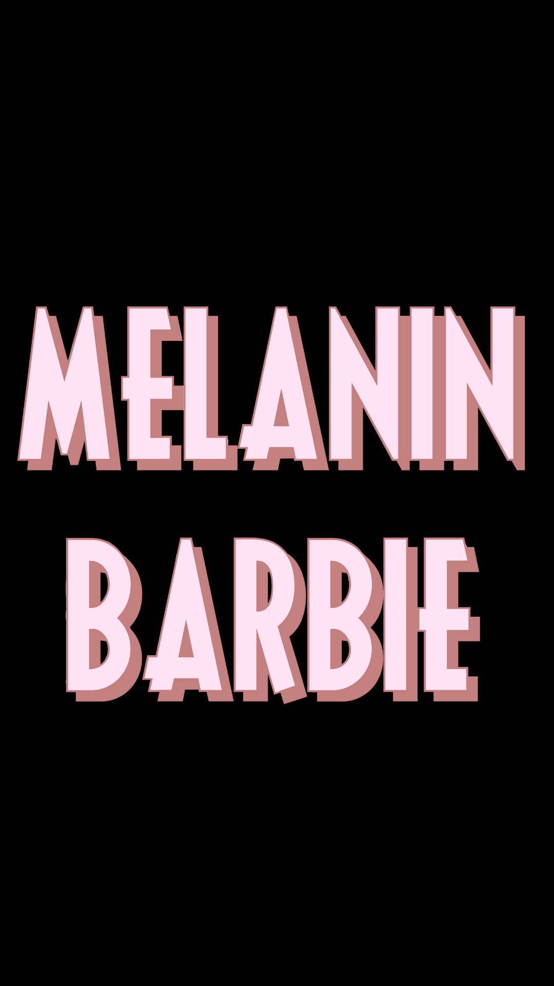 Pastel Melanin Barbie Sticker Pink Aesthetic Blm Sticker Black Pride Black Girl Magic Sticker Black Aesthetic Wallpaper Black Girl Magic Art Pastel Pink Aesthetic