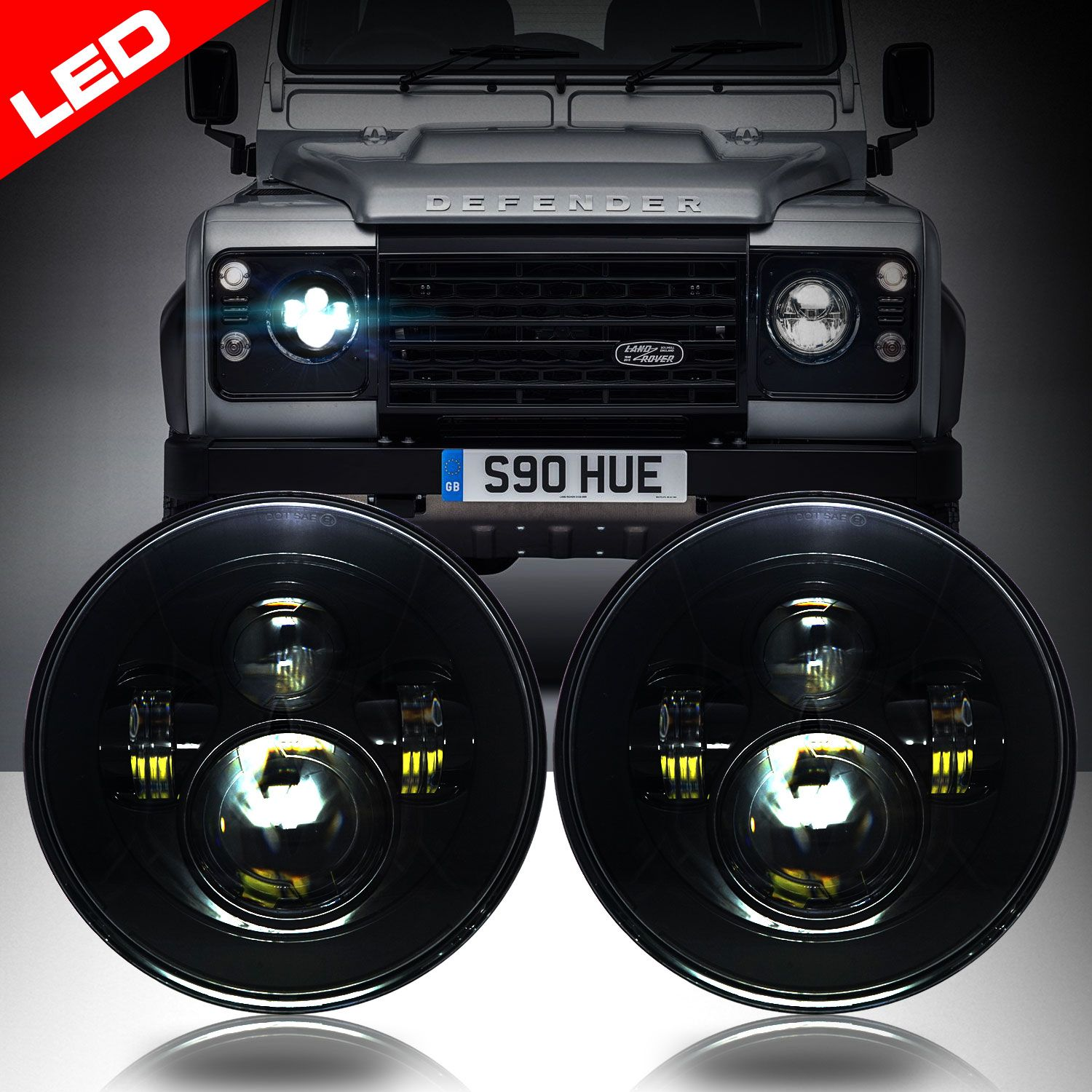 NAS Land Rover Rear Lamps Lights Set For Kit Car Classic