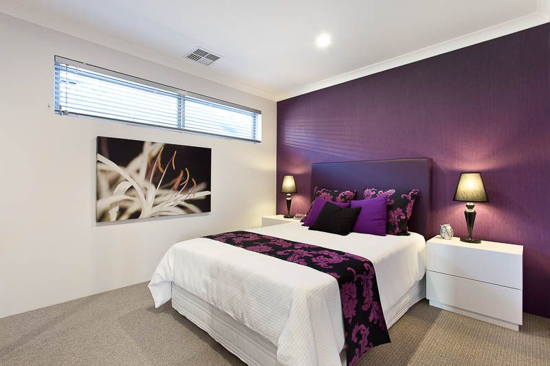 purple feature wall bedroom our home ideas source ventura homes monterey 2 bedroom feature wall 811