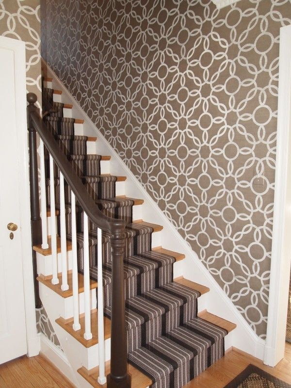 Designer Elizabeth Reich Featured Voyage Rings 5172 White On Jute In Front Foyer Of Private Maryland Residence