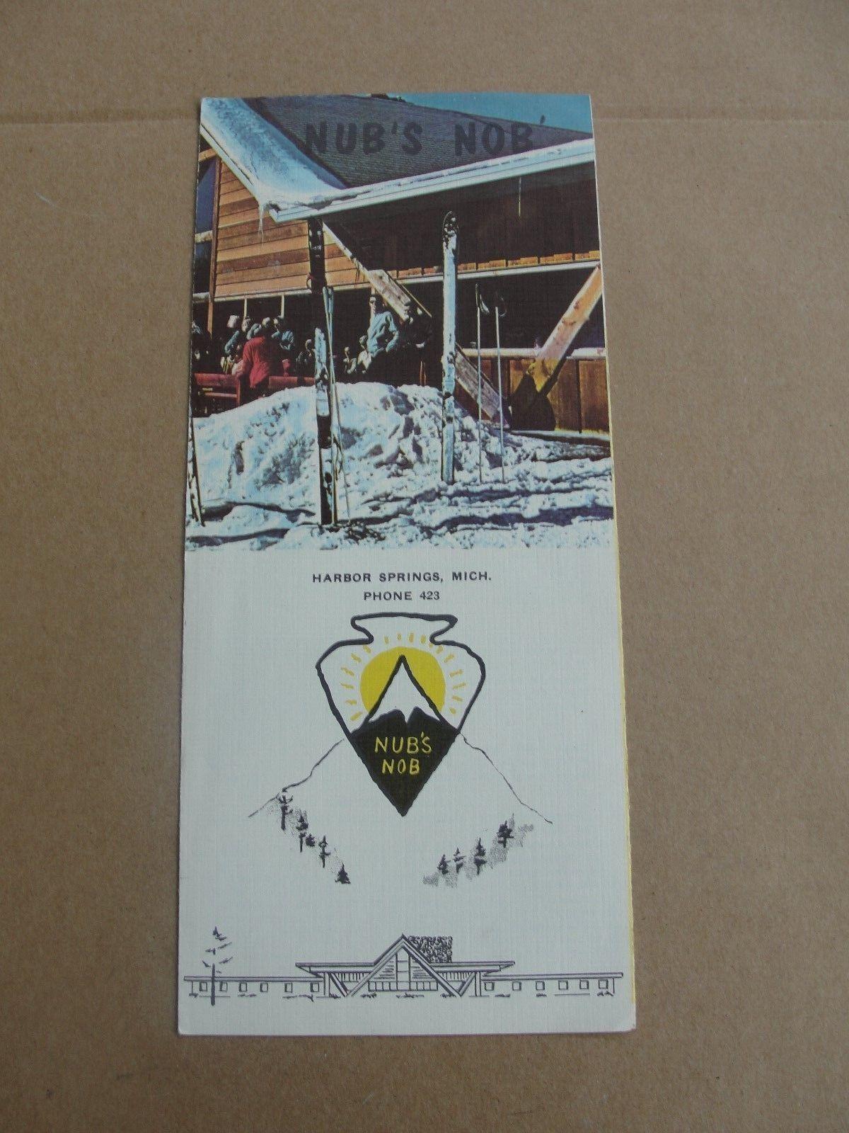 Late 1950's Vintage Nub's NOB Skiing Brochure Harbor Springs Michigan   eBay