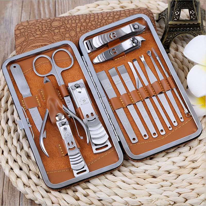 Professional 15 Pcs Manicure Set Stainless steel Nail Clipper Kit ...