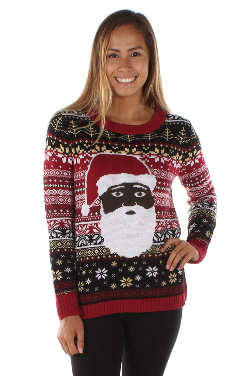 Womens The Night Before Black Santa Sweater Fashion Finds