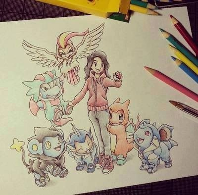 I wish I had this kind of talent. Then I could draw myself with my team.