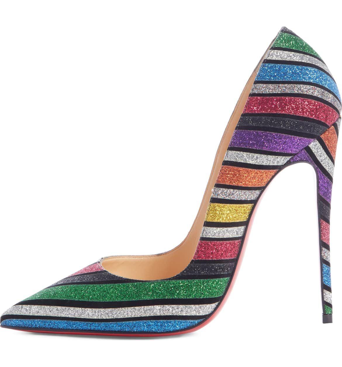 best sneakers 85988 b58ea So Kate Glitter Stripe Pump, Alternate, color, RAINBOW ...