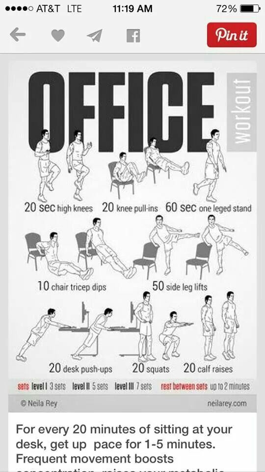 Work Exercises Office Exercise Workout At Work Office Workout Routine