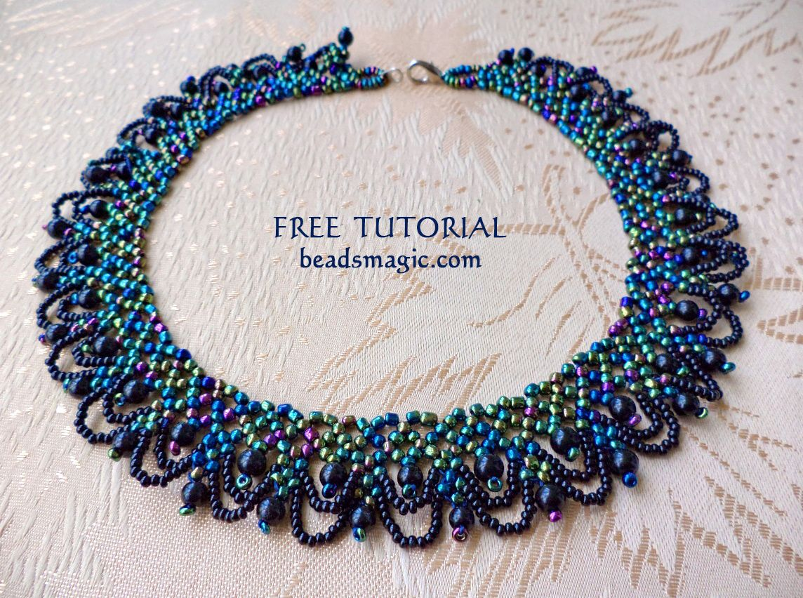 bead berrie patterns beads chain beading necklace tutorial pretty baskets simple beaded pattern