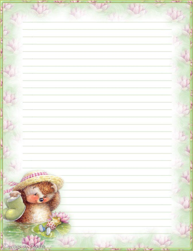 My printable stationary Creations 2 - Sophia Designs PenPal - free lined stationery