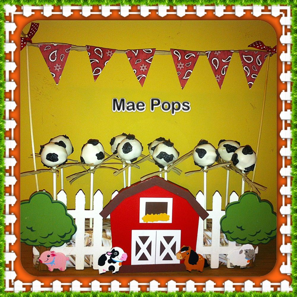 Cow pops and farm display by mae pops with images mae