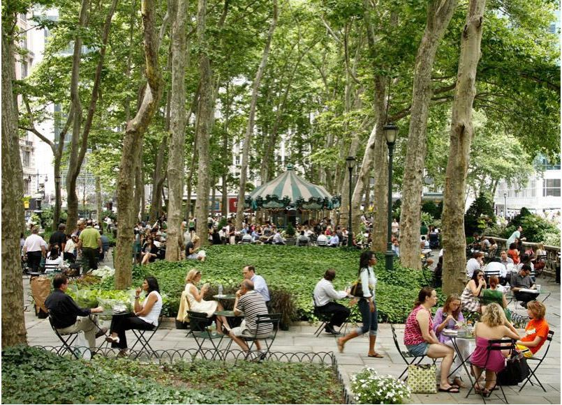 NYC's Bryant Park was effectively abandoned, then revived with the establishment of the 1979 Bryant Park Corporation and a successful design intervention by Hanna/Olin. Today the park receives 4.2 million visitors per year. Click photo for the full story, and visit the Slow Ottawa 'Streets for Everyone' board for more great urban initiatives.