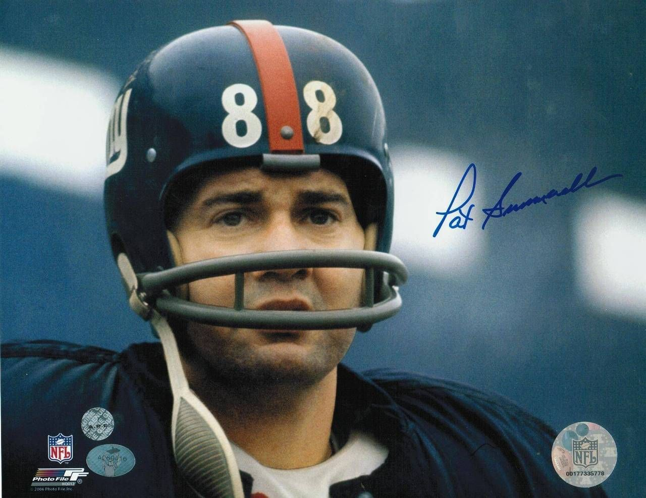 Pat Summerall New York Giants Autographed 8x10 Photo Head