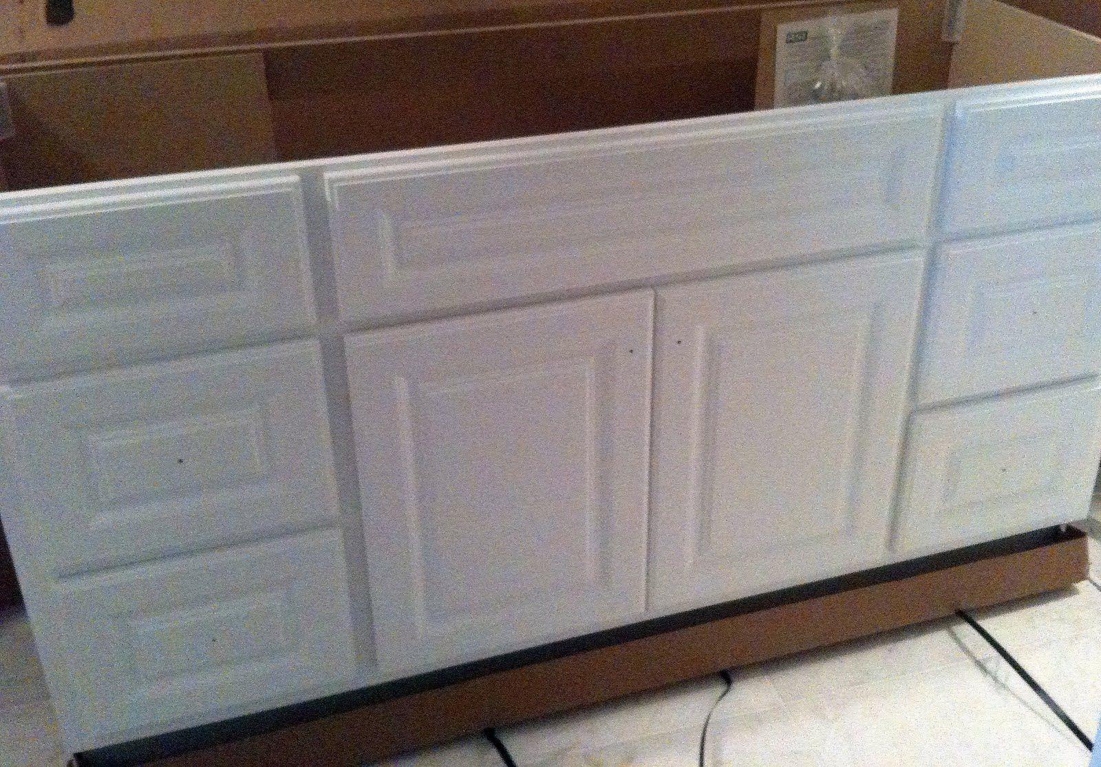 Home Depot Builder Grade Vanity Guest Bath Paint Hardware - Custom bathroom vanities home depot