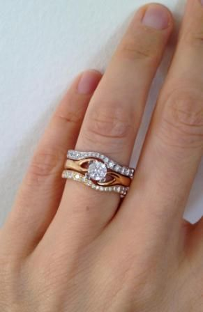 Mixed Metal Rings Sterling Silver Mixed Metal Spinning Hearts Ring ...