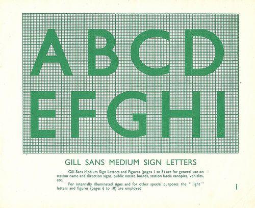 British Railways Standard Signs Manual - 1948 | Typography