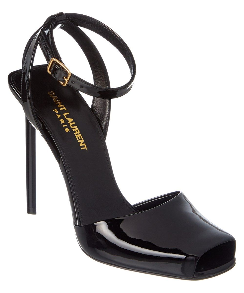 0c6789ae0140 SAINT LAURENT Saint Laurent Edie 110 Patent Peep Toe Sandal .  saintlaurent   shoes  sandals