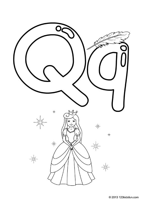 FREE printable coloring pages for kids Colour In Alphabet