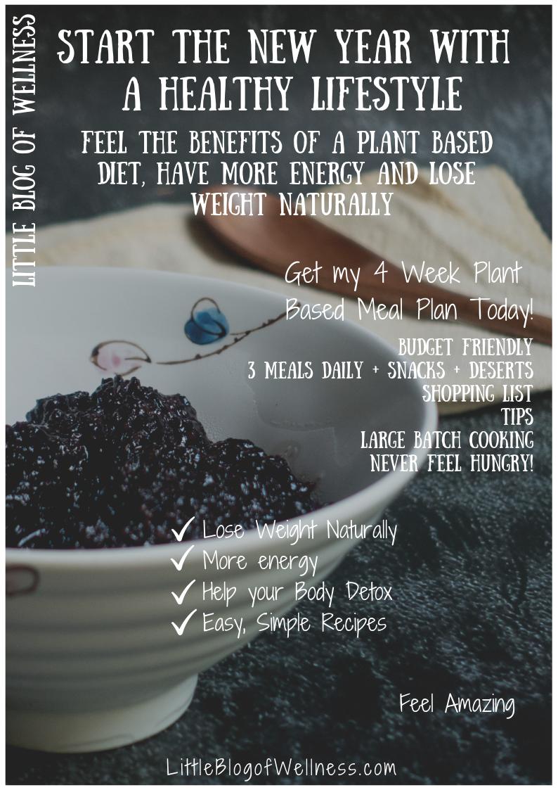 4 Week Vegan Meal Plan and Grocery List in a printable PDF