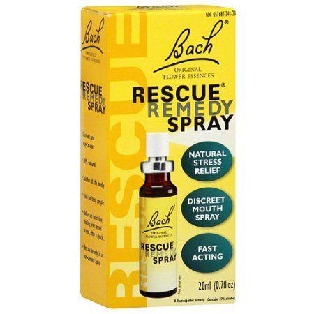 Bach Rescue Remedy Spray 0 7 Fl Oz Walmart Com Flower Remedy