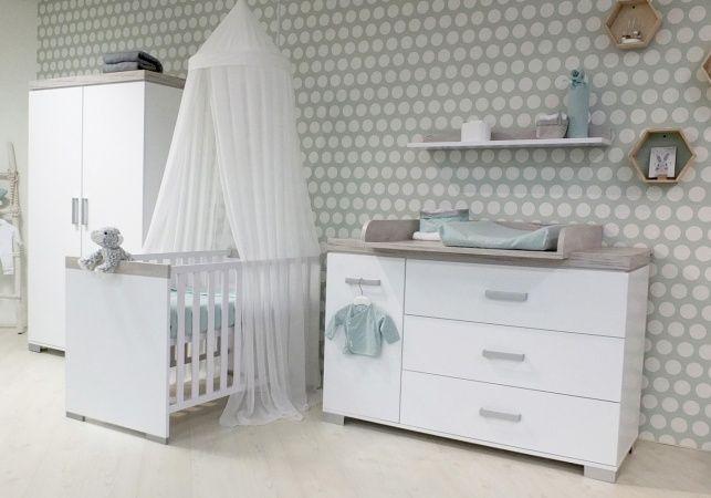 Ledikant En Commode In 1.Basicline Ralph Babykamer Wit Bed 60 X 120 Cm Commode