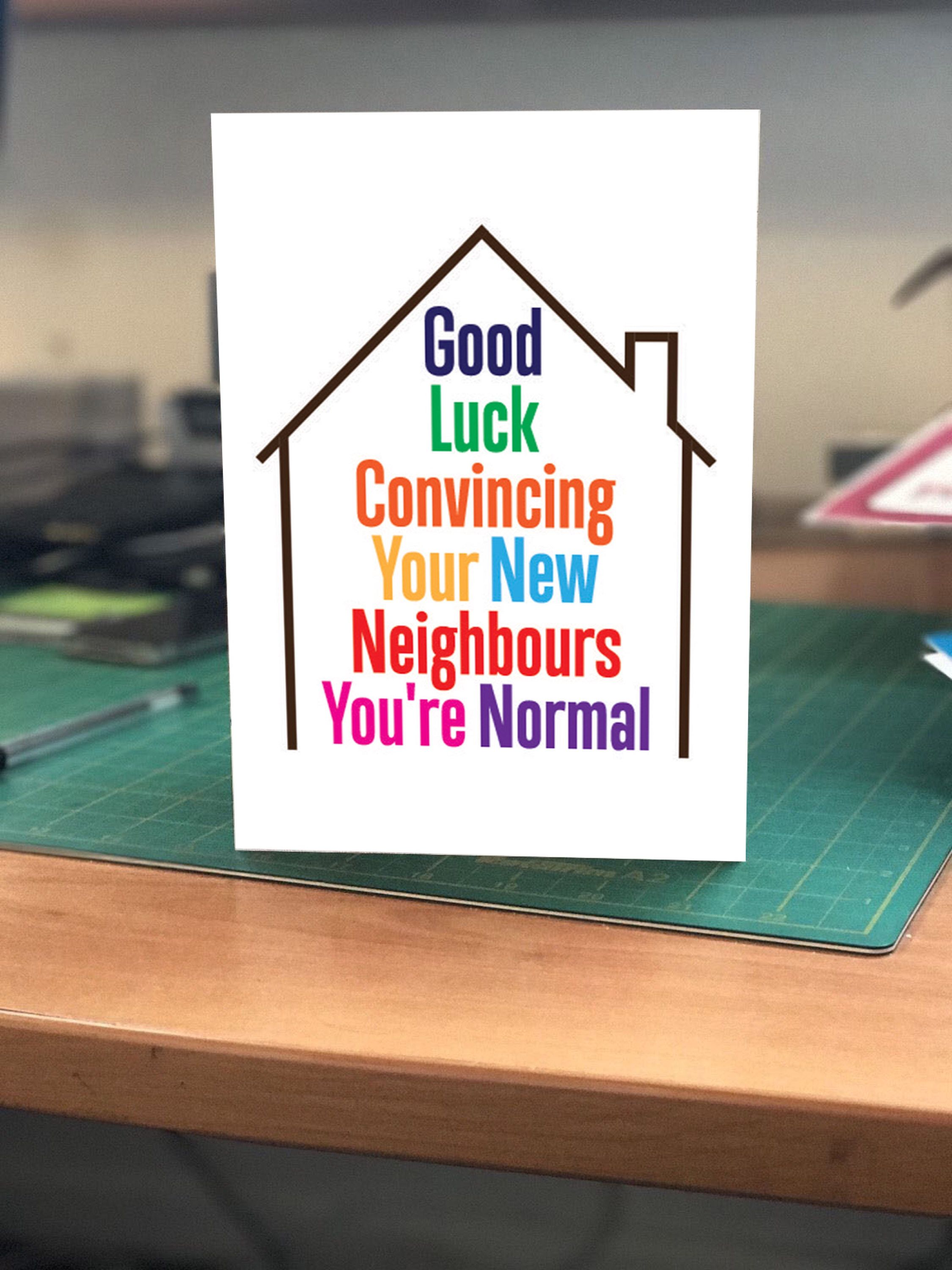 Congratulations On Your New Home Greetings Card Funny Humour By Bangorsignage On Etsy Https Www Etsy Com U New Home Greetings New Home Cards New Home Quotes