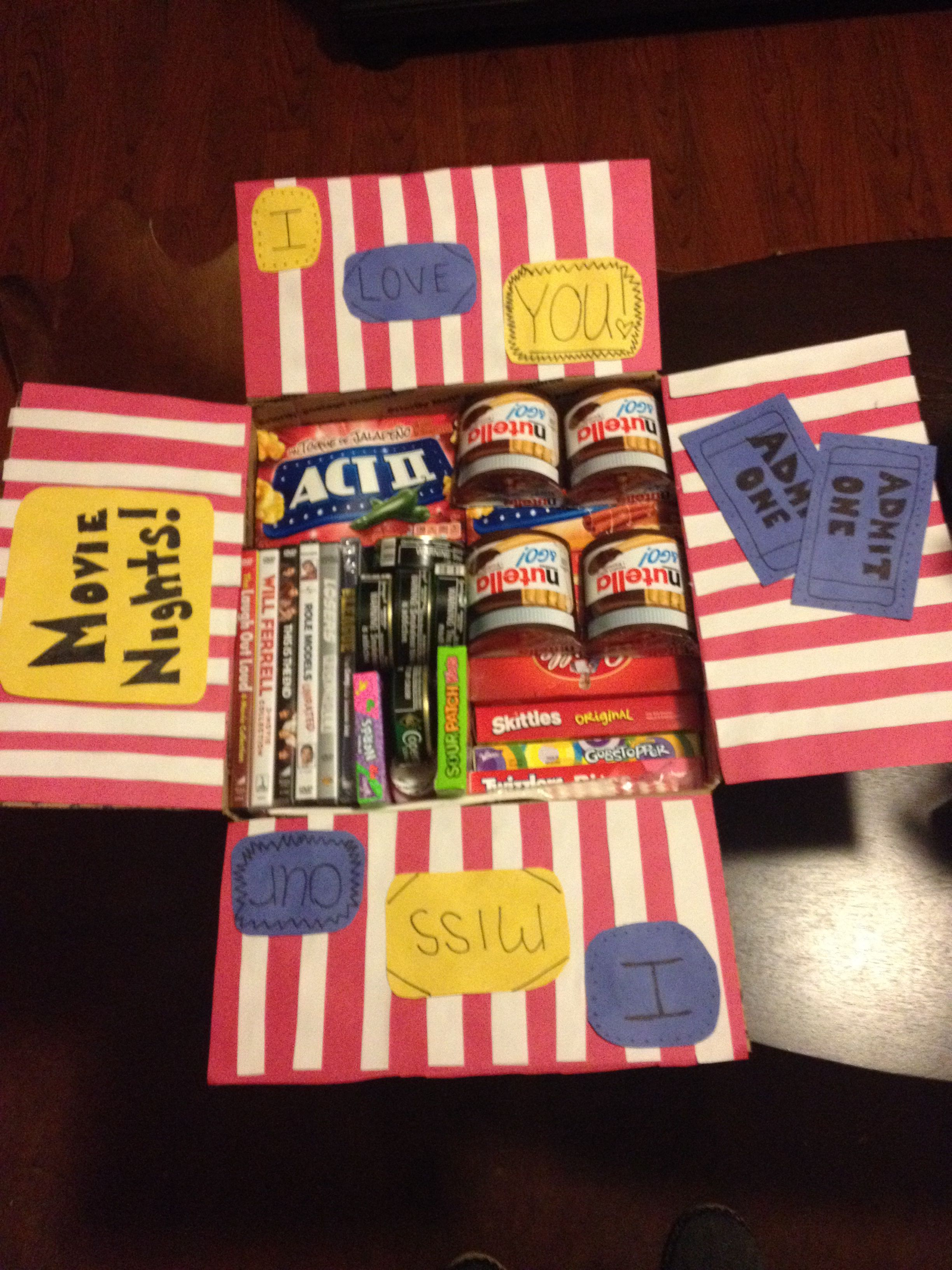 Movie themed military care package | projects | Pinterest | Geschenk ...