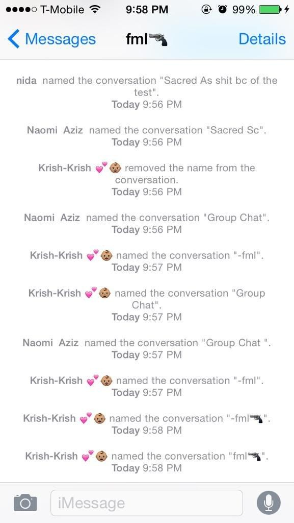 Dating group chat names