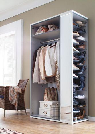 Schrank In Weiß Mit Integriertem Schuhregal Schuhschrank