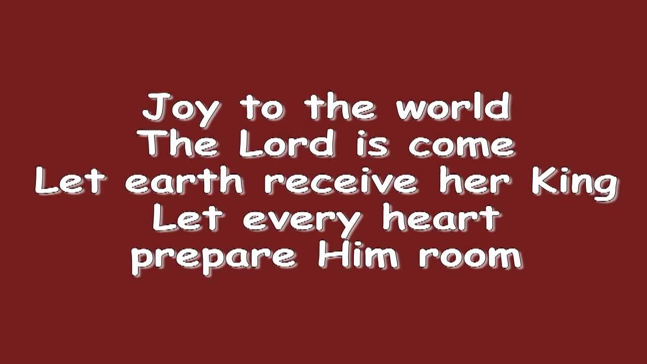 Joy to the World w/ Lyrics - YouTube | Music and Movies | Joy to the ...