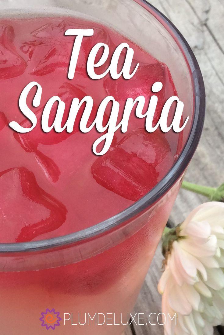 Garden Grove Green Tea Sangria Tea cocktail recipes, Tea