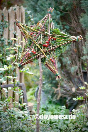 Aststern als Gartenstecker – Karin Urban-NaturalSTyle