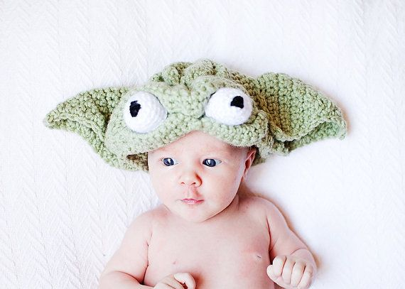 My husband says Ellie looks like Yoda. No joke. Halloween? Too evil?