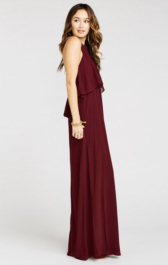 Aimee Ruffle Maxi Dress ~ Merlot Chiffon ~ Show Me Your Mumu ...