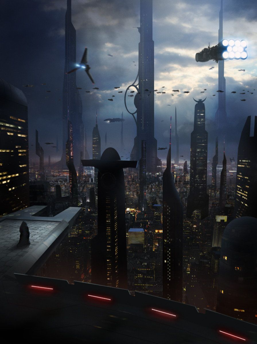 Coruscant Matthieu Rebuffat Star Wars Planets Futuristic City Star Wars Concept Art