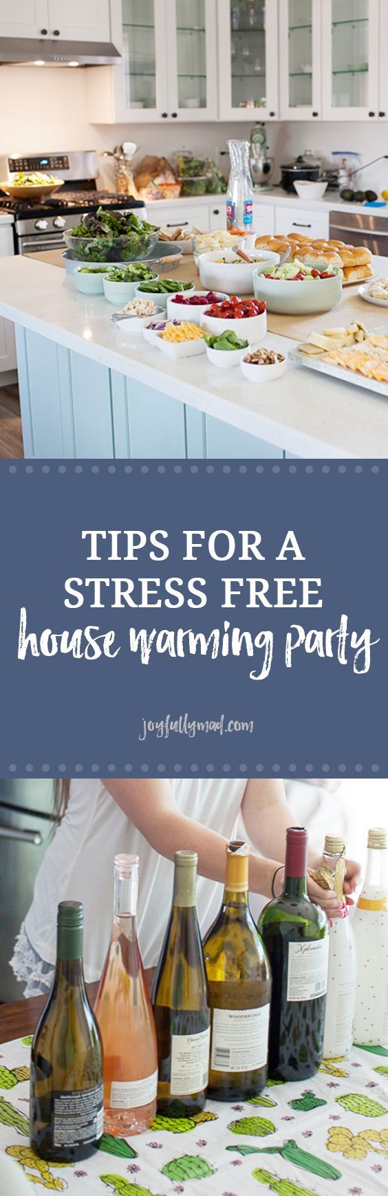 How to Host a Stress Free Housewarming Party   Stress free, Meals ...
