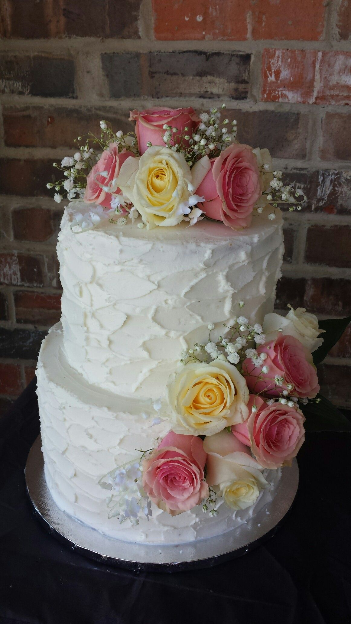Rustic buttercream wedding cake by max amor cakes max amor cakes