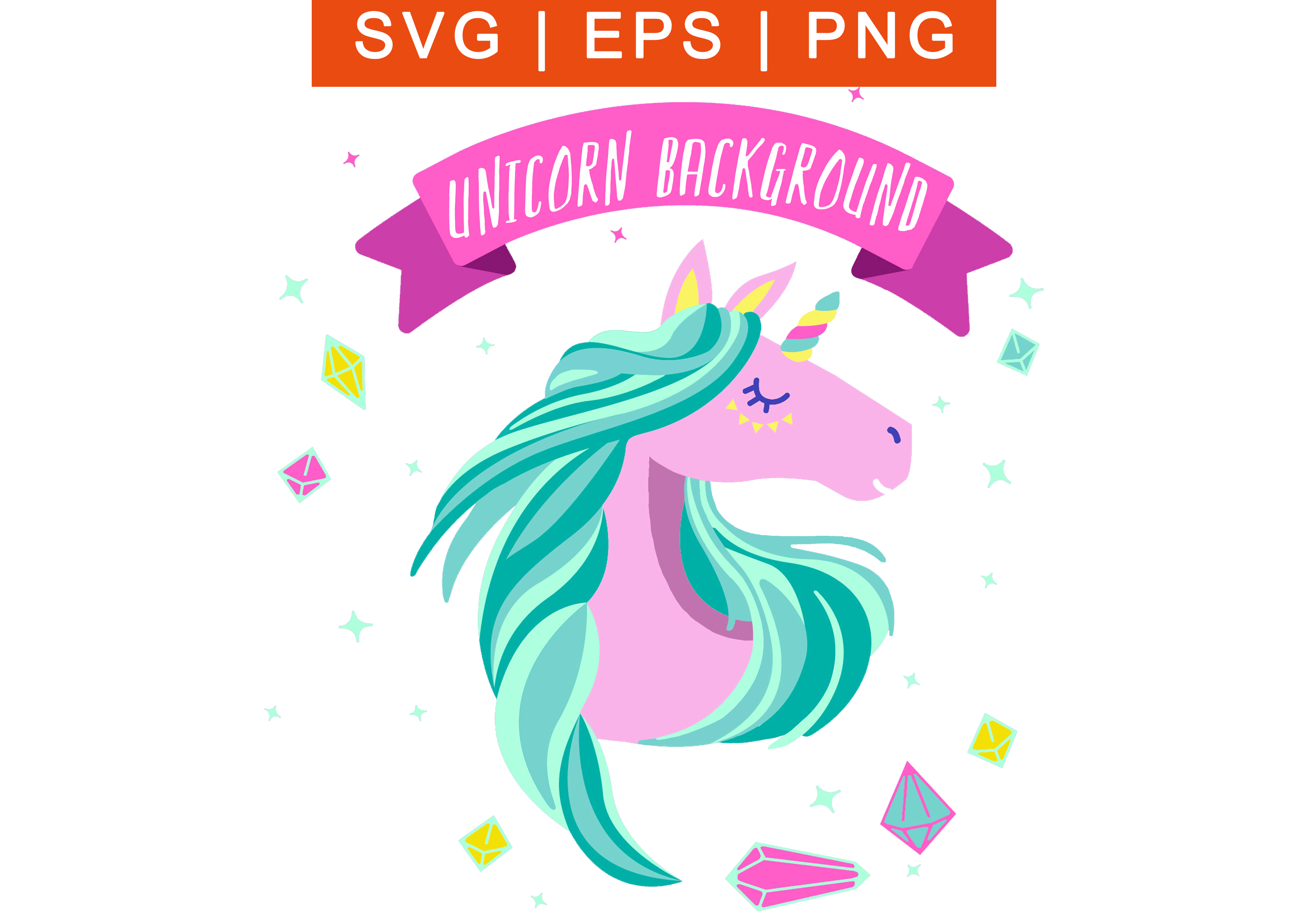 Pink Unicorn face with horn SVG, free file vector for