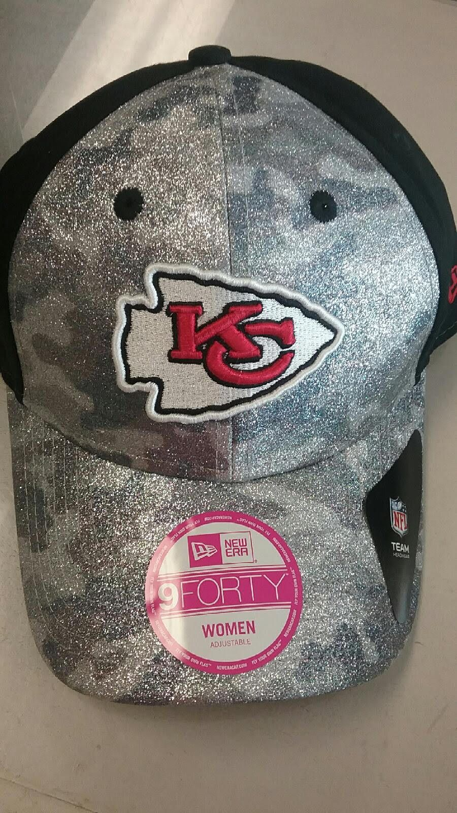 1483acad Kansas City Chiefs Ladies Glamo Camo Adjustable 9Forty Hat by New ...